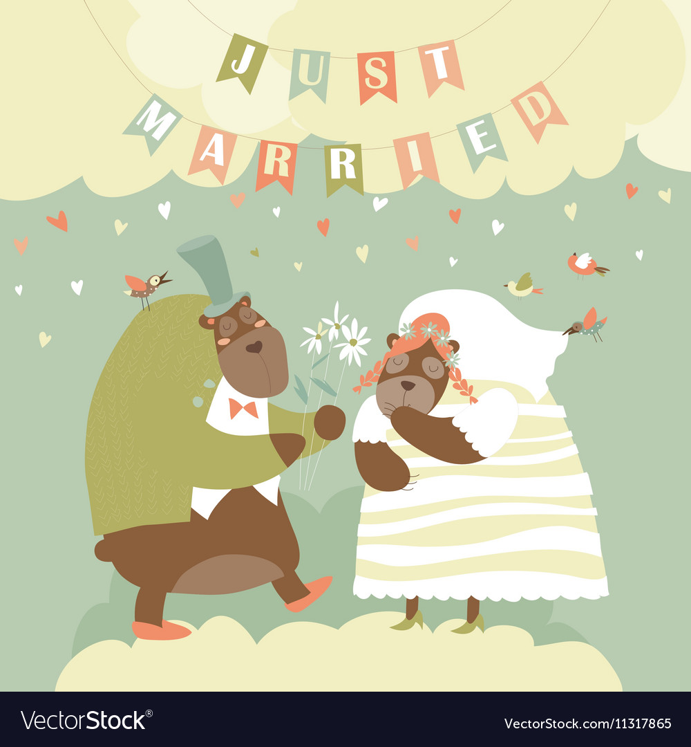 Two Lovely Bears Just Married