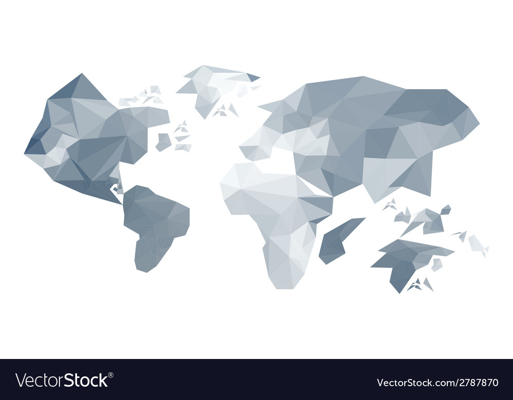 Abstract origami world map royalty free vector image abstract origami world map vector image gumiabroncs Choice Image