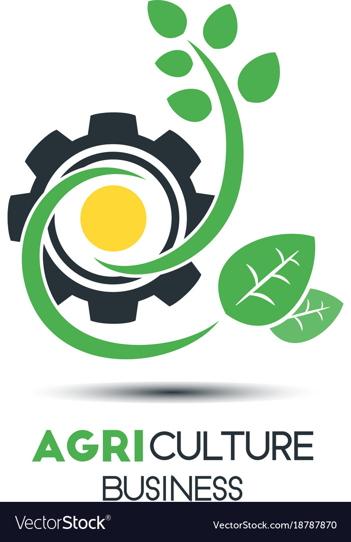 Agriculture business logo template green leaf vector image cheaphphosting Choice Image