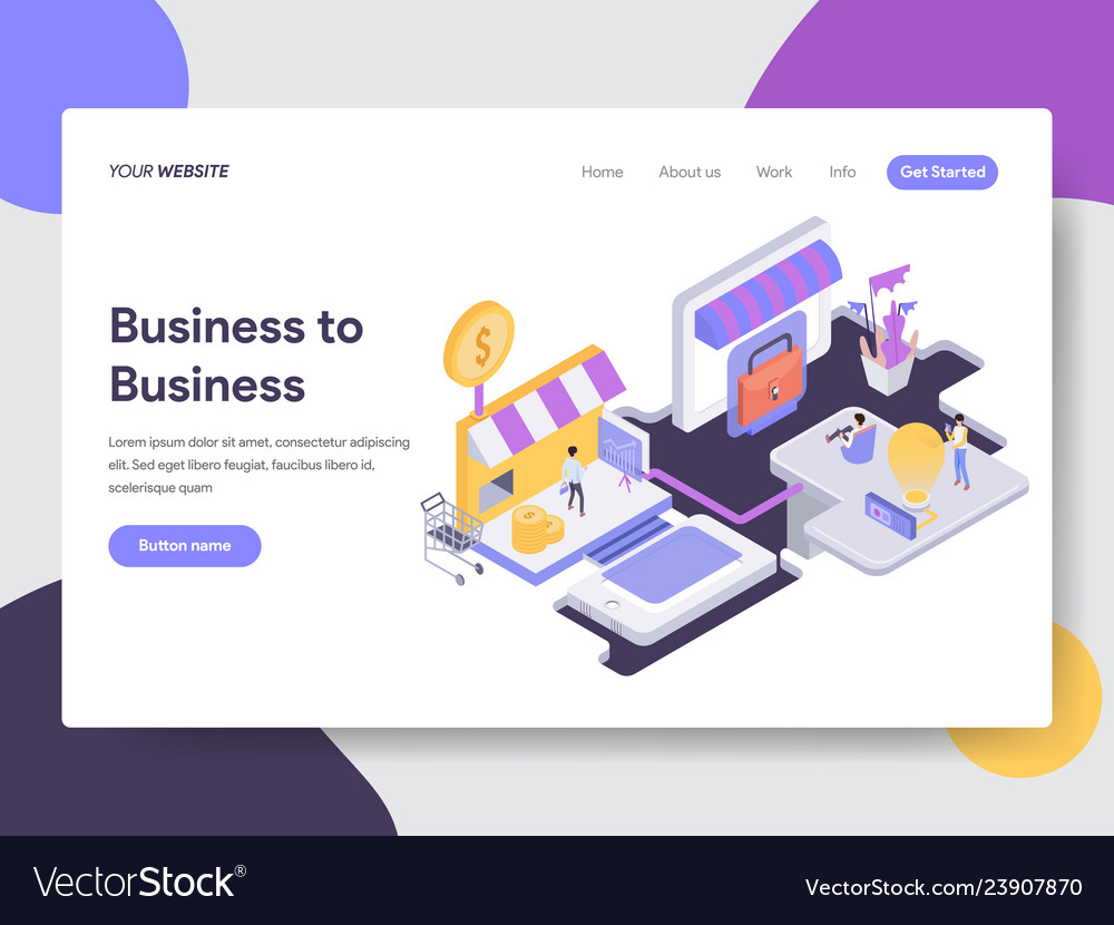 Business to business isometric
