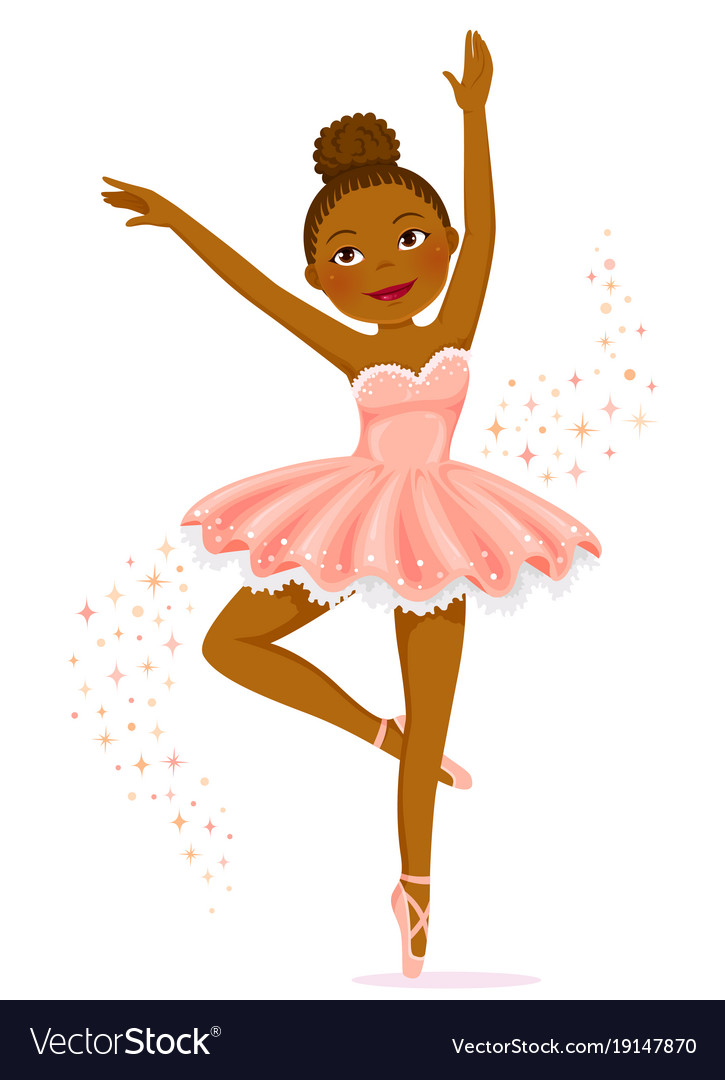 dark skinned ballerina royalty free vector image rh vectorstock com ballerina vector download ballerina vectors free