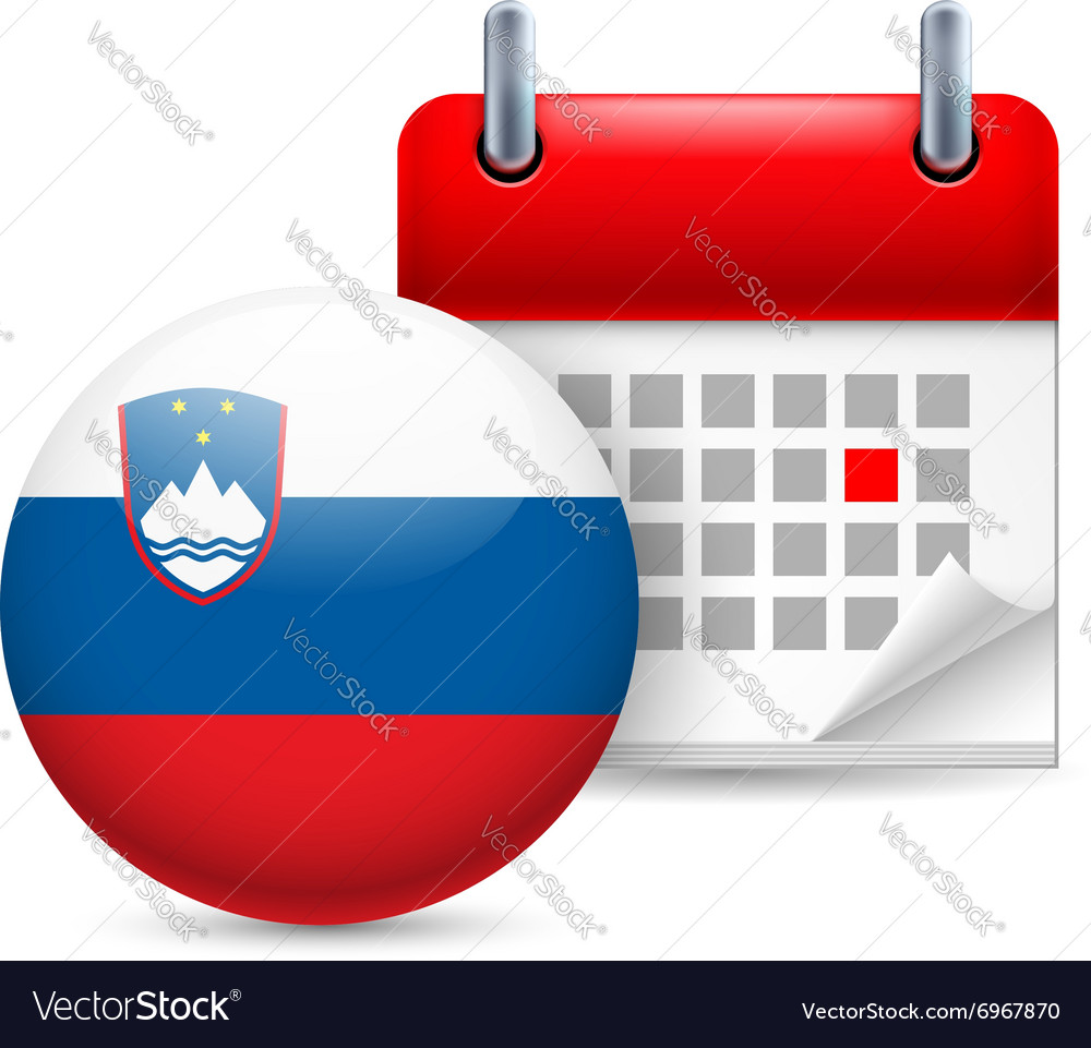 Icon of national day in slovenia vector image