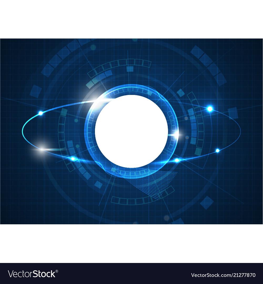 Light blue futuristic circle technology