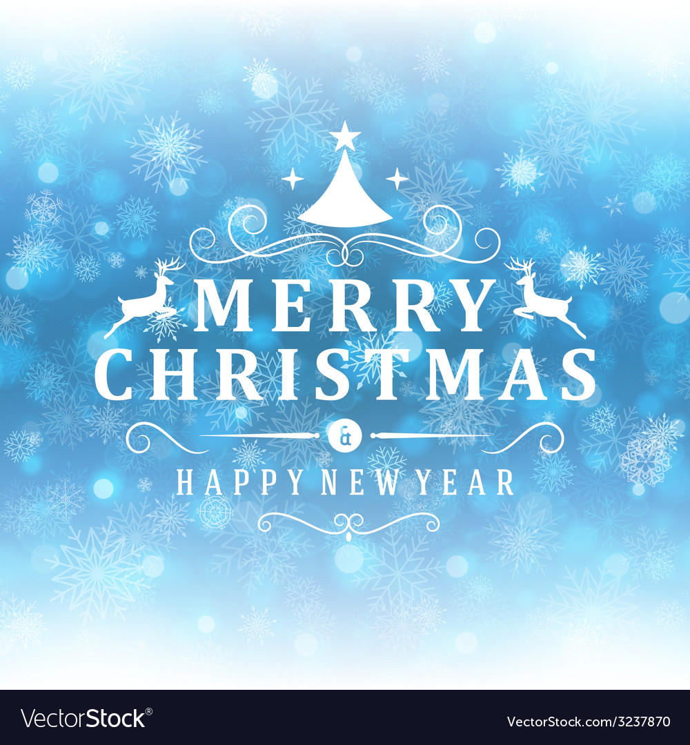 merry christmas message and light background with vector image - Merry Christmas Greeting Messages