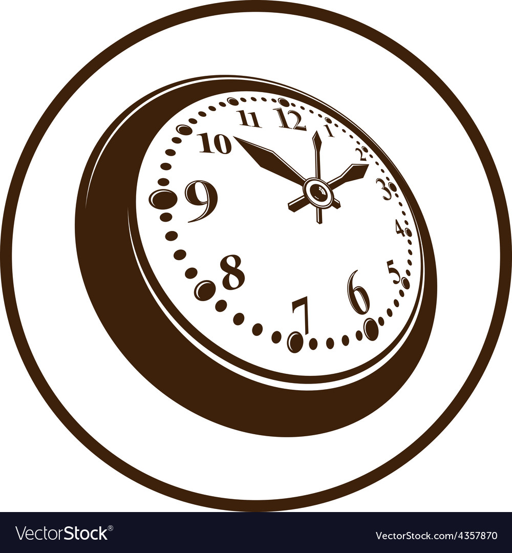 Old-fashioned pocket watch graphic Simple vector image
