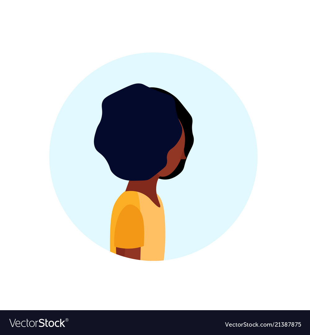 African american woman profile avatar isolated