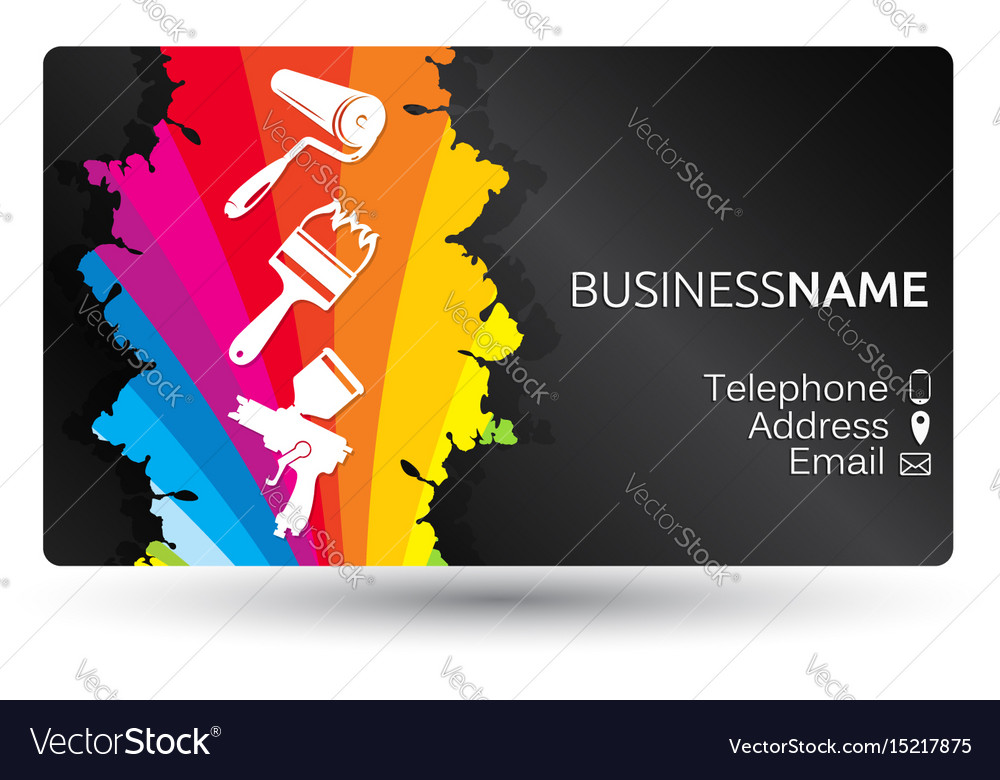Business card for painting the layout royalty free vector business card for painting the layout vector image wajeb Image collections