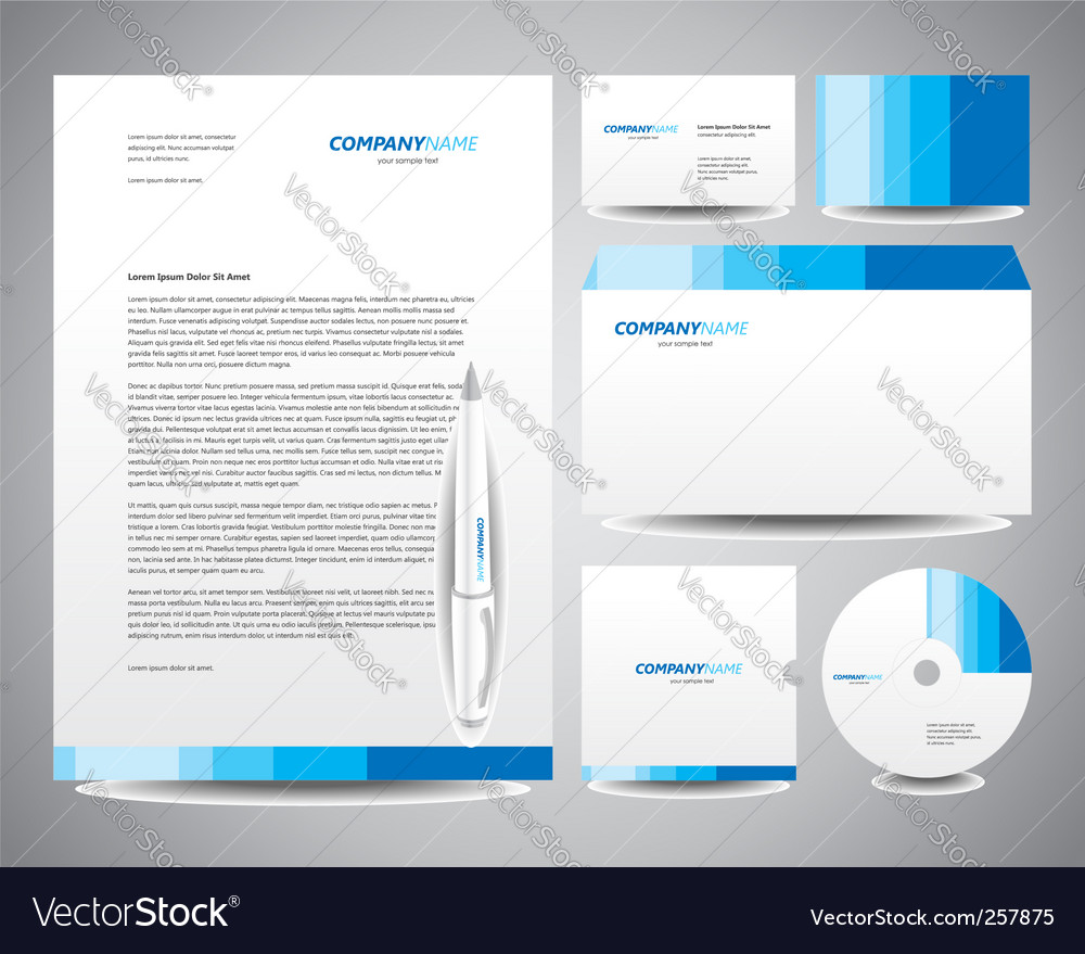 Business Stationery Template from cdn1.vectorstock.com