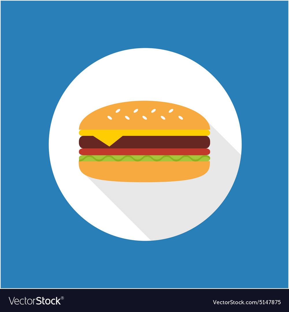 Cheeseburger flat icon