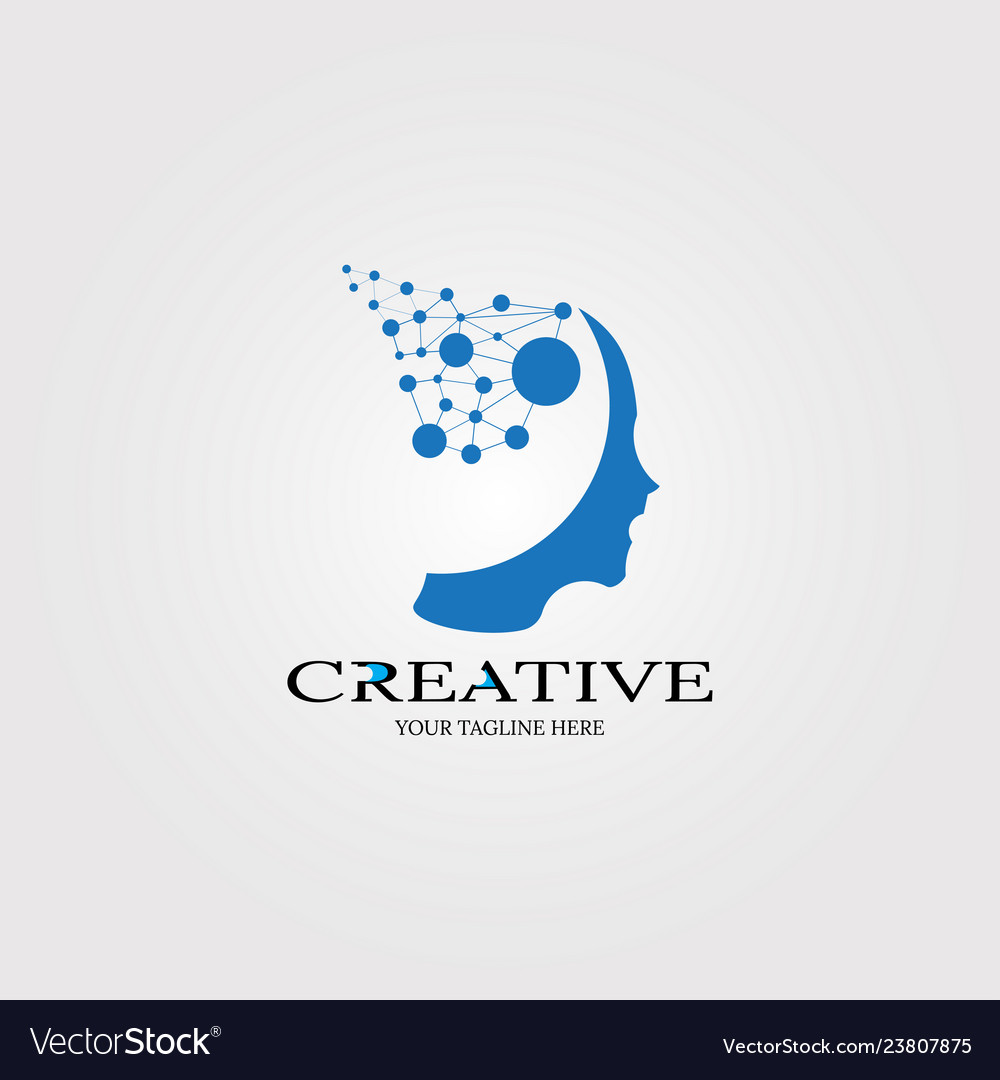 Creative mind icon templates logo technology for