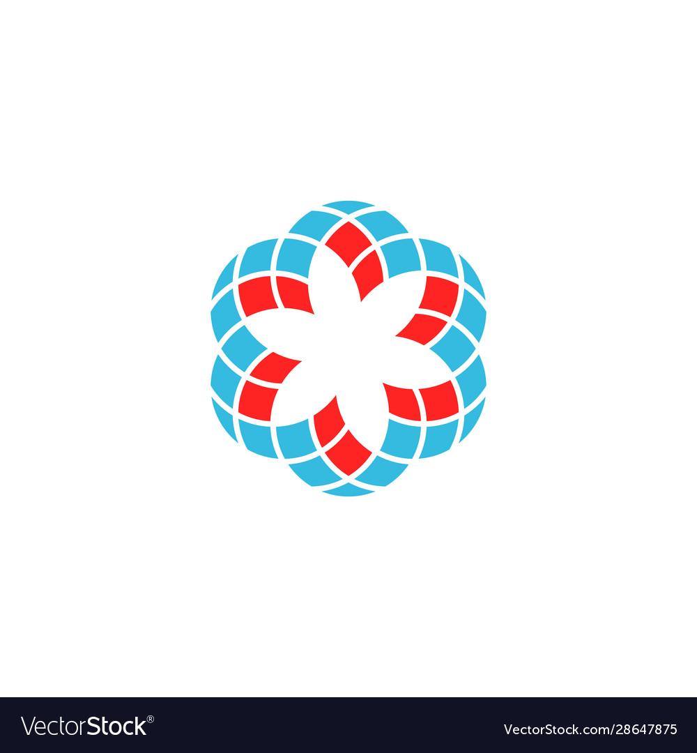 Geometric flower logo