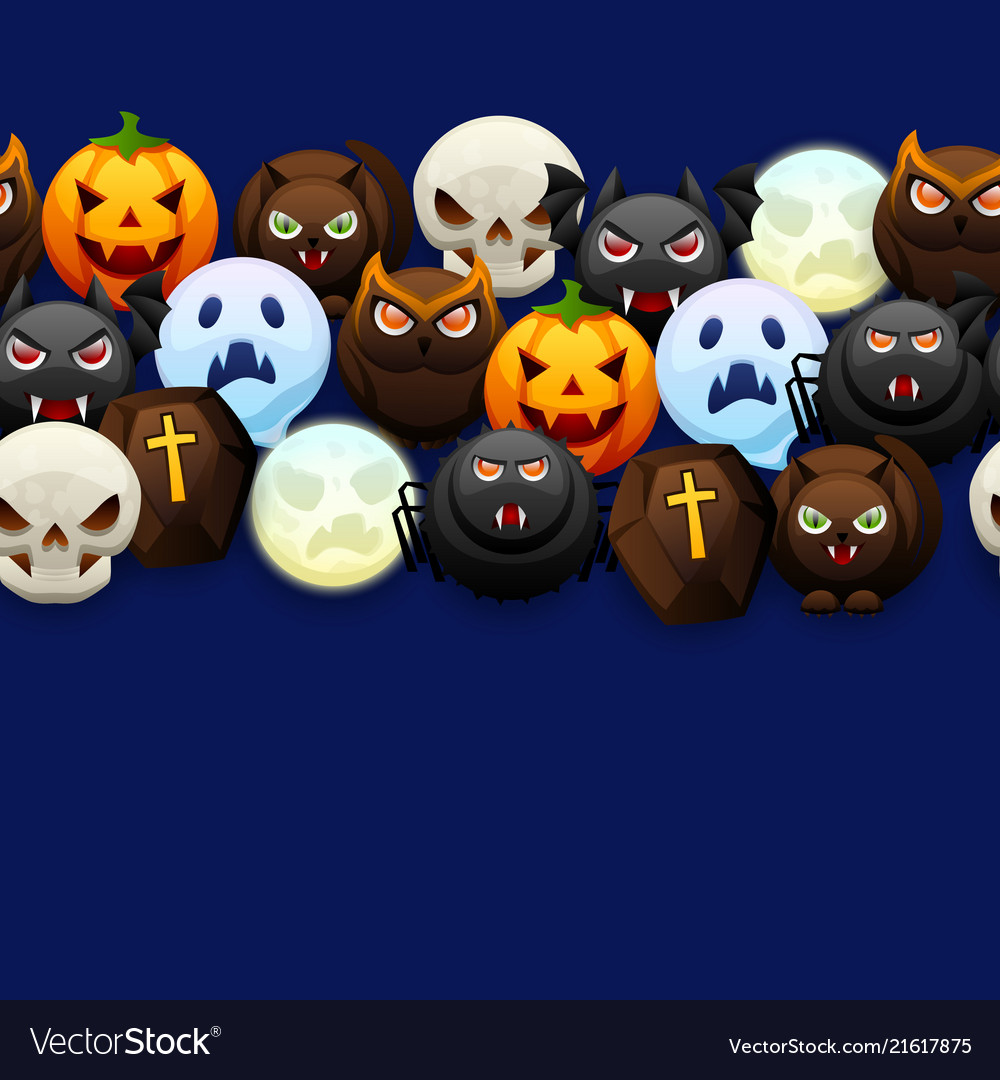 Happy halloween seamless pattern