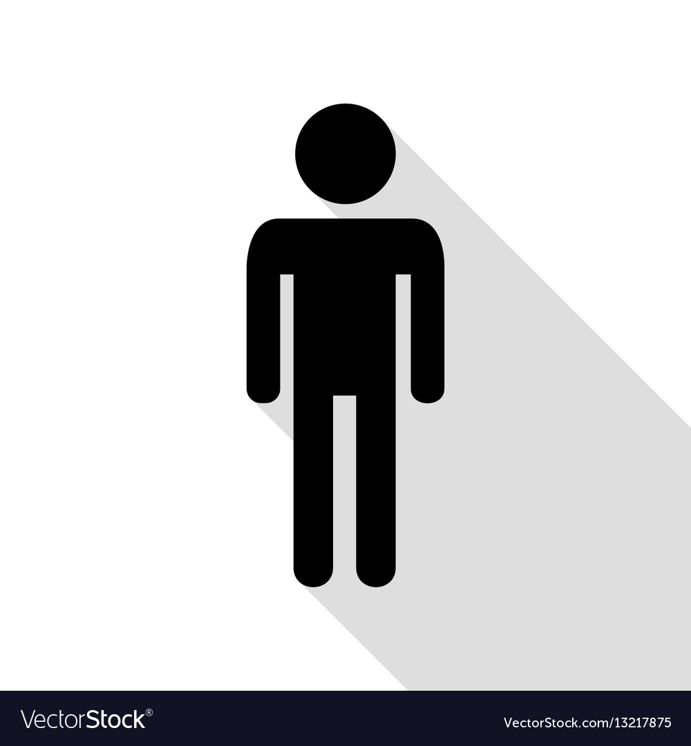 Man sign black icon with flat style