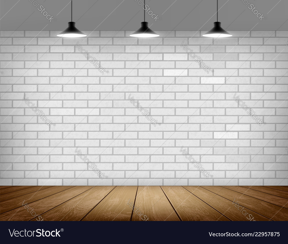 White Brick Wall Background Royalty Free Vector Image