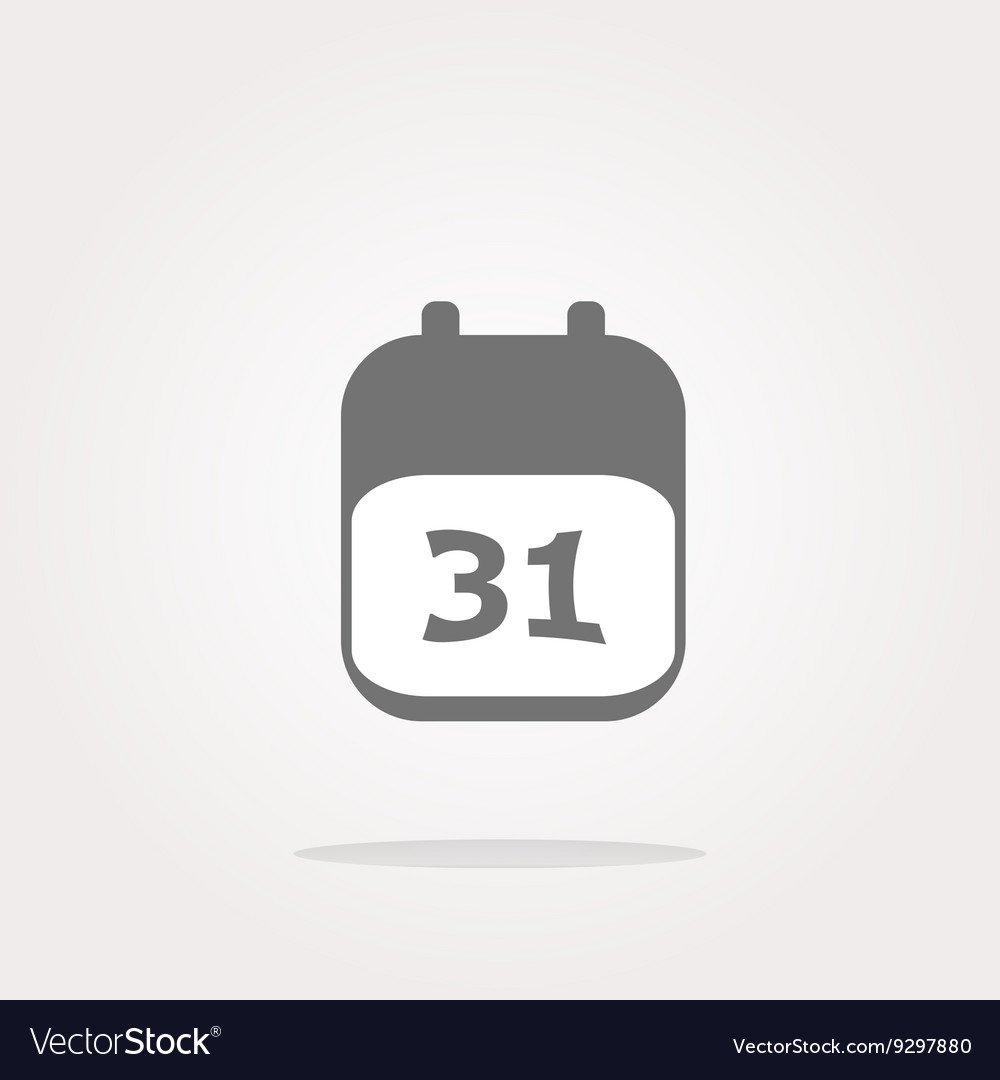 Calendar apps icon glossy button day 31
