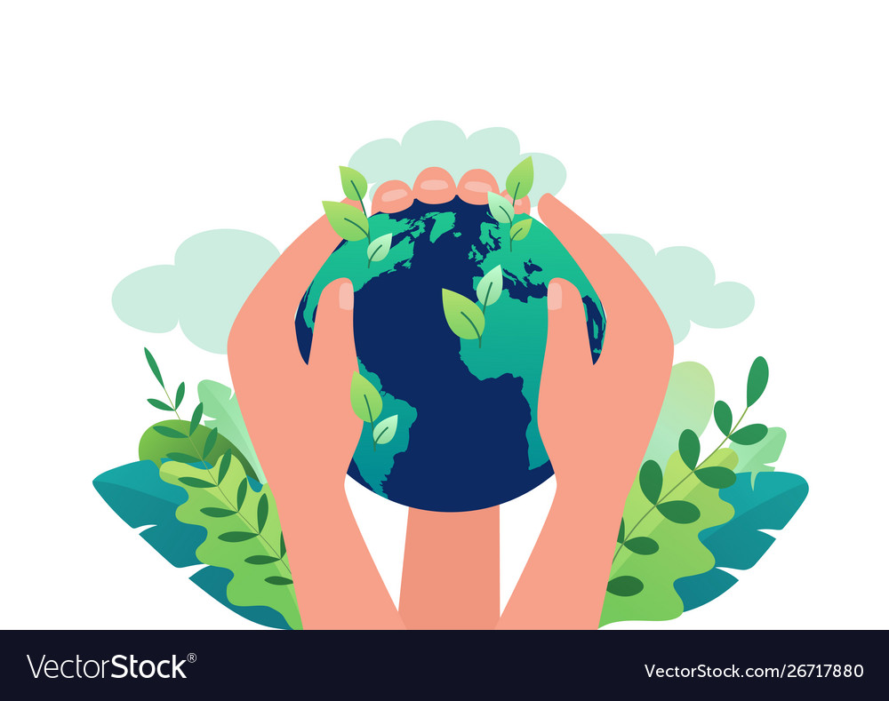 Earth day concept clean ecology our planet