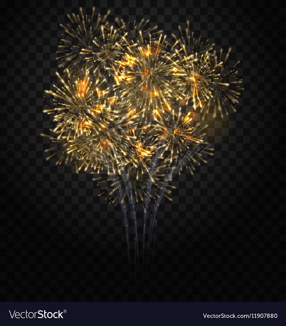 Festive Firework Bursting Holiday Background