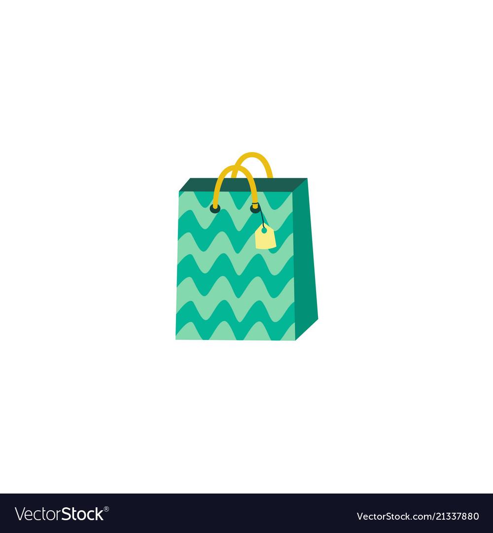 Flat present paper bag shopping bag