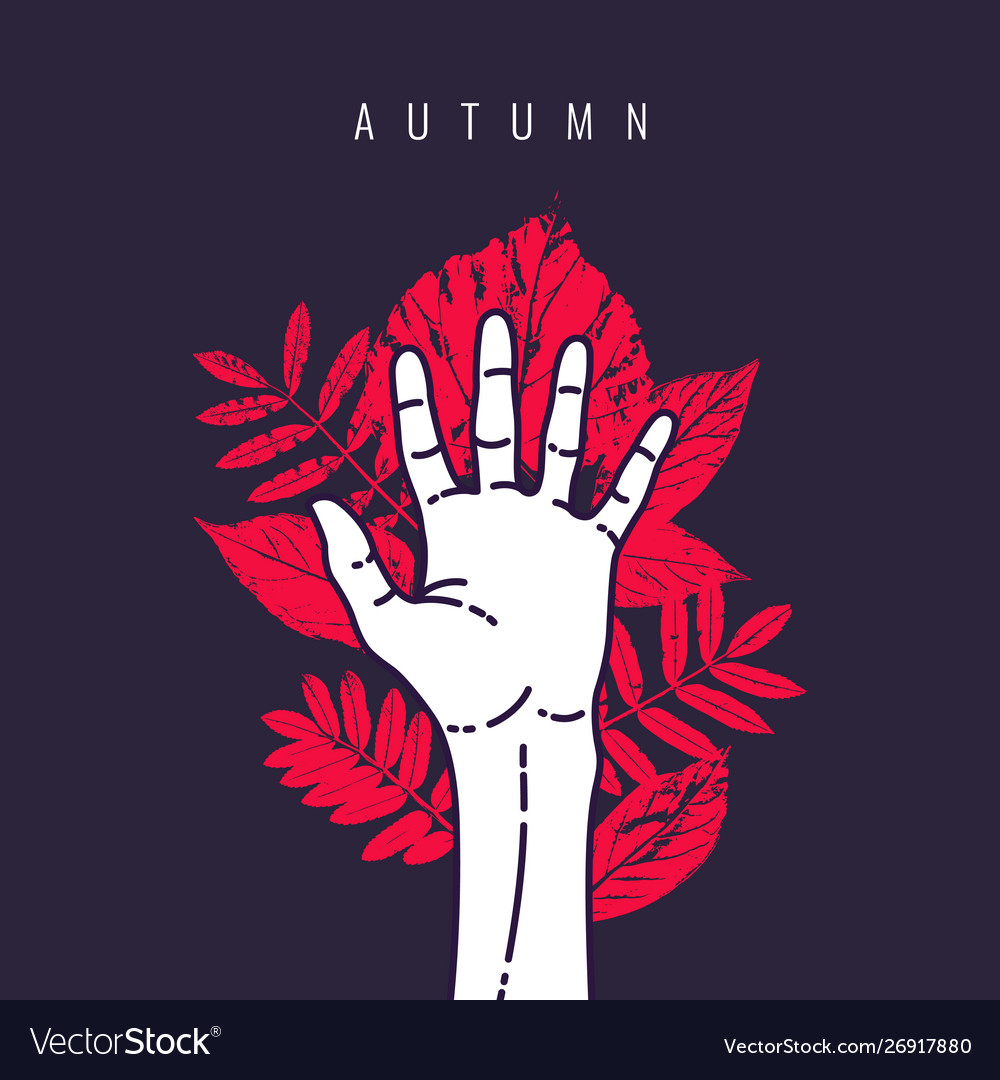 Modern background with flat style autumn vector