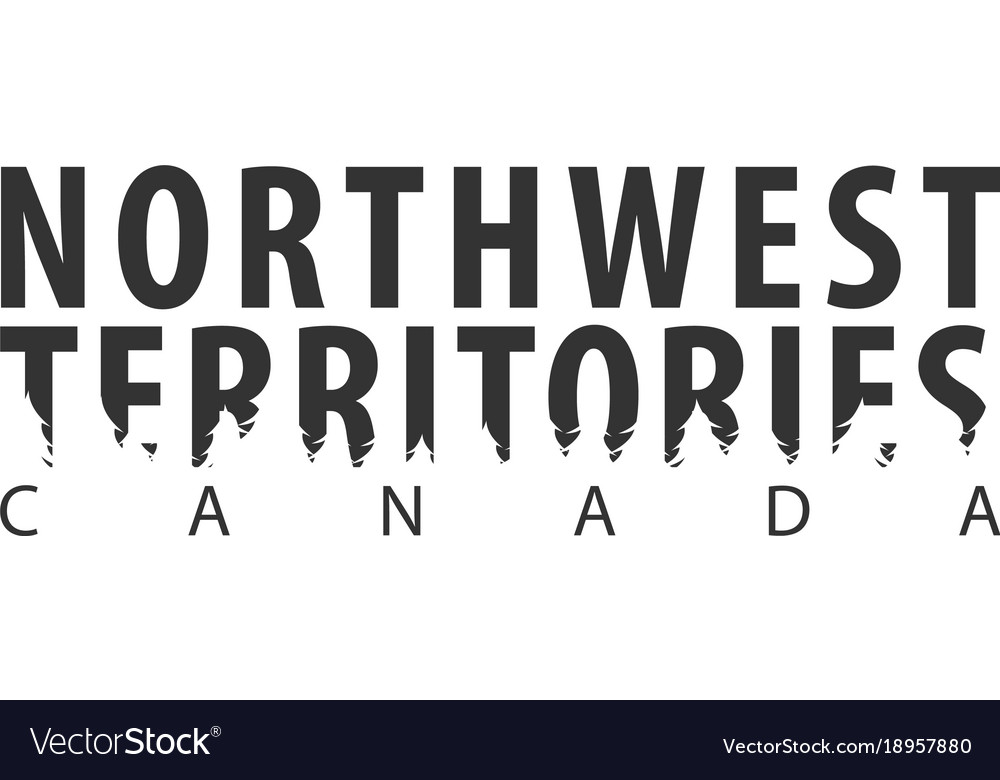 northwest territories canada text or labels with vector image