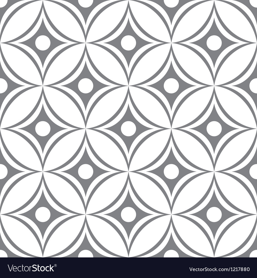 Seamless ornament pattern vector image
