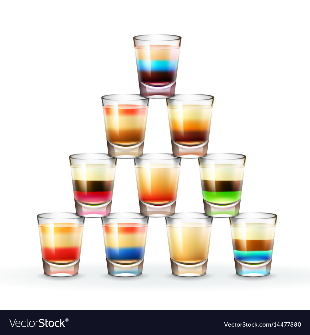 Set of shots vector image