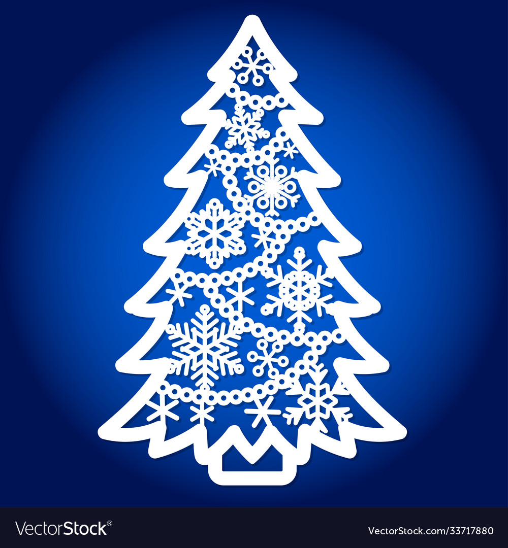 Template for laser cutting christmas tree