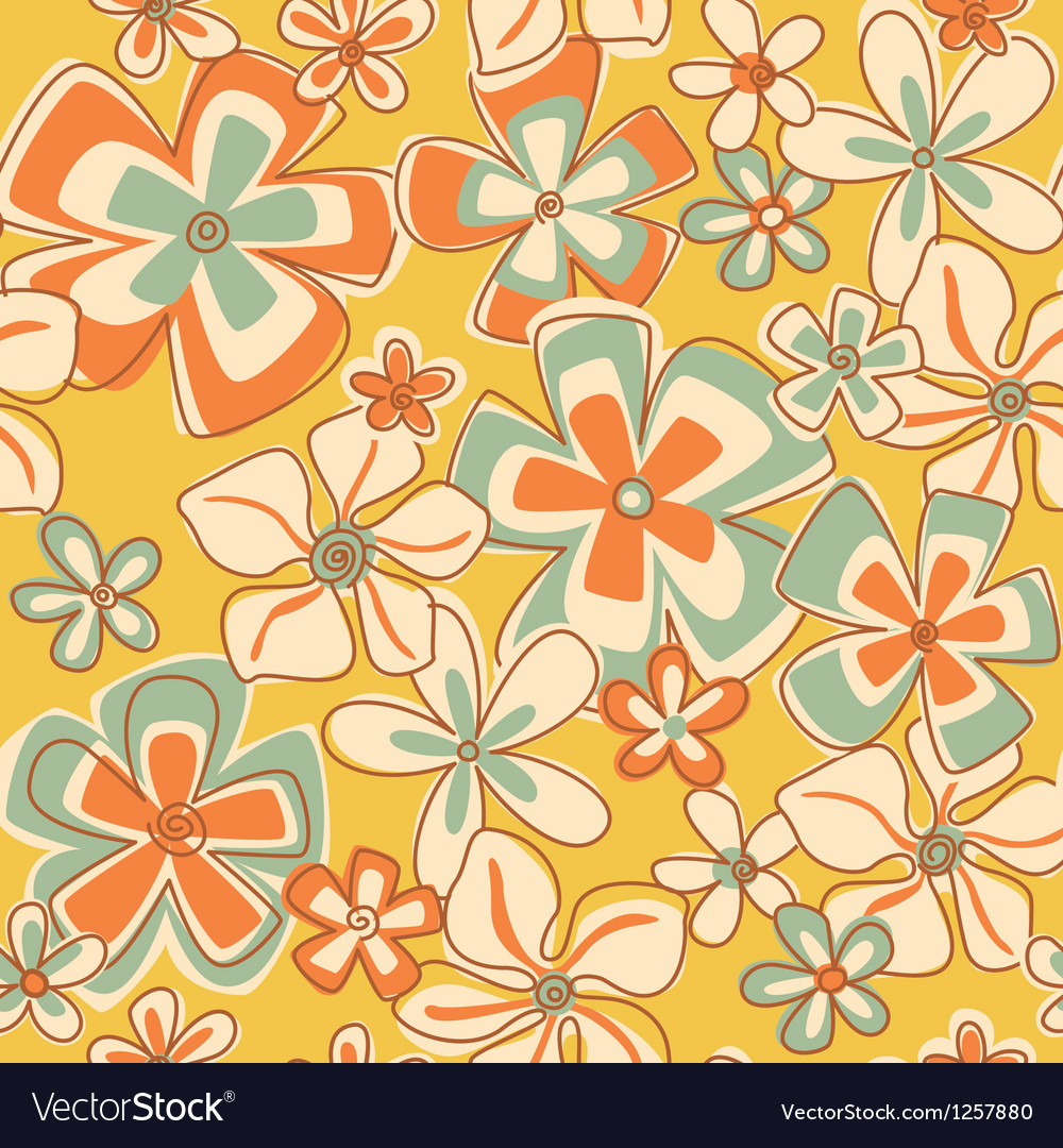 Vintage Abstract Flowers vector image