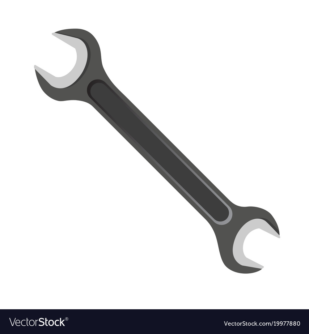 Wrench on a white background