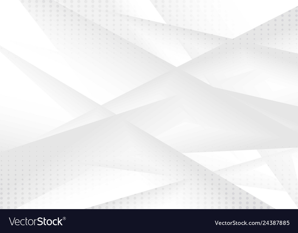 Abstract geometric gray and white gradient color