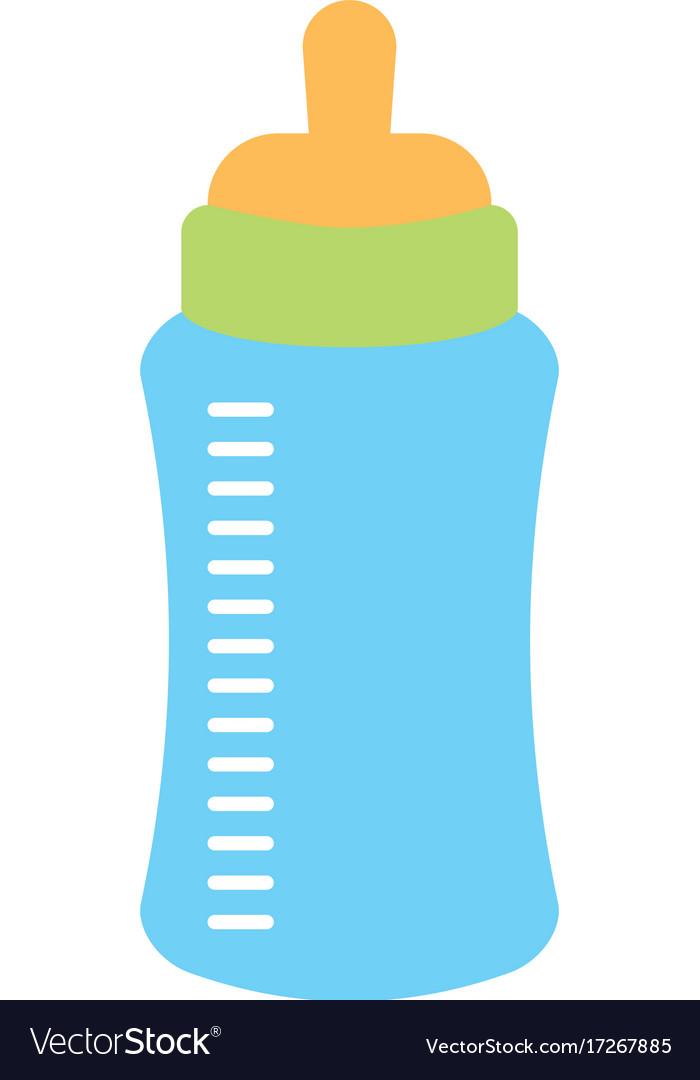 Baby Shower Bottle Milk Little Decorative Vector Image Awesome Decorative Plastic Bottles For Shower
