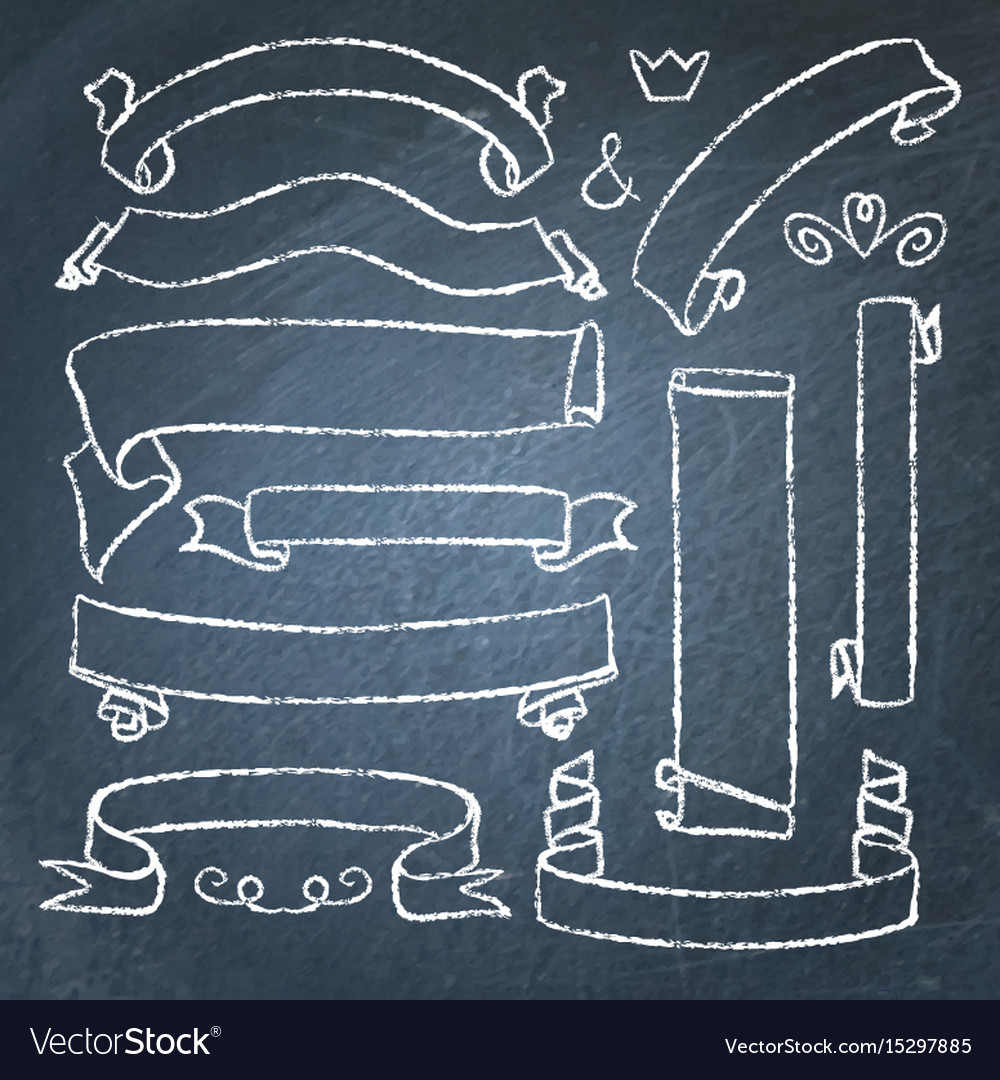 Collection chalkboard banners