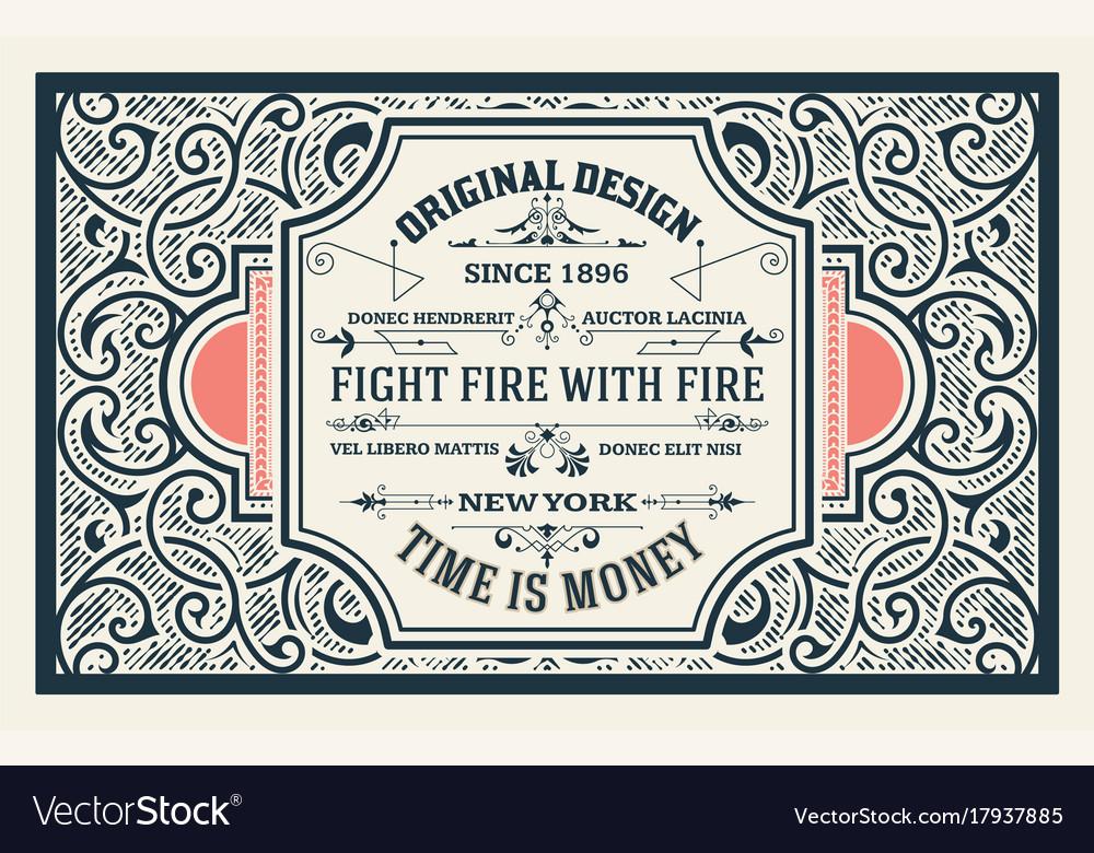 Old advertising design