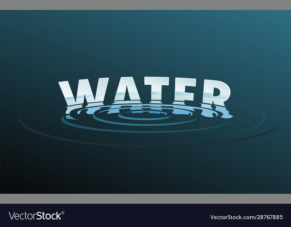 Water drop word text logo free