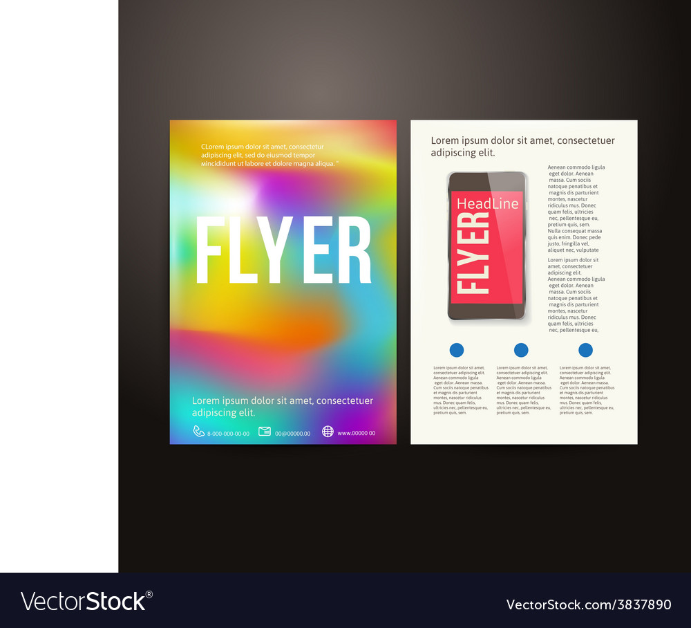 abstract brochure flyer design template royalty free vector