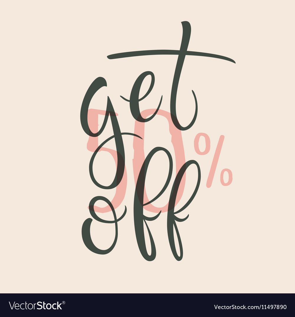 Get 50 percent off Sale label