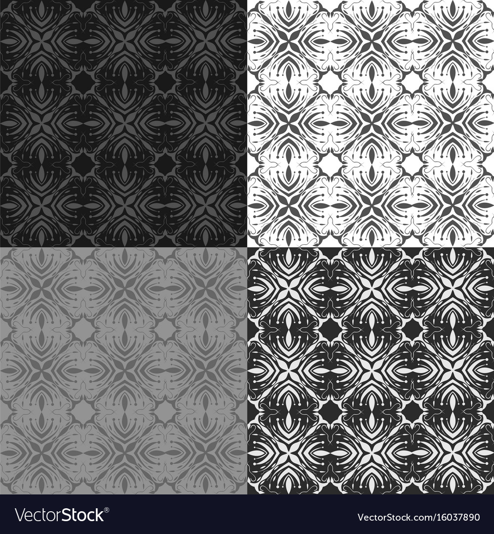 Grunge background set vector image