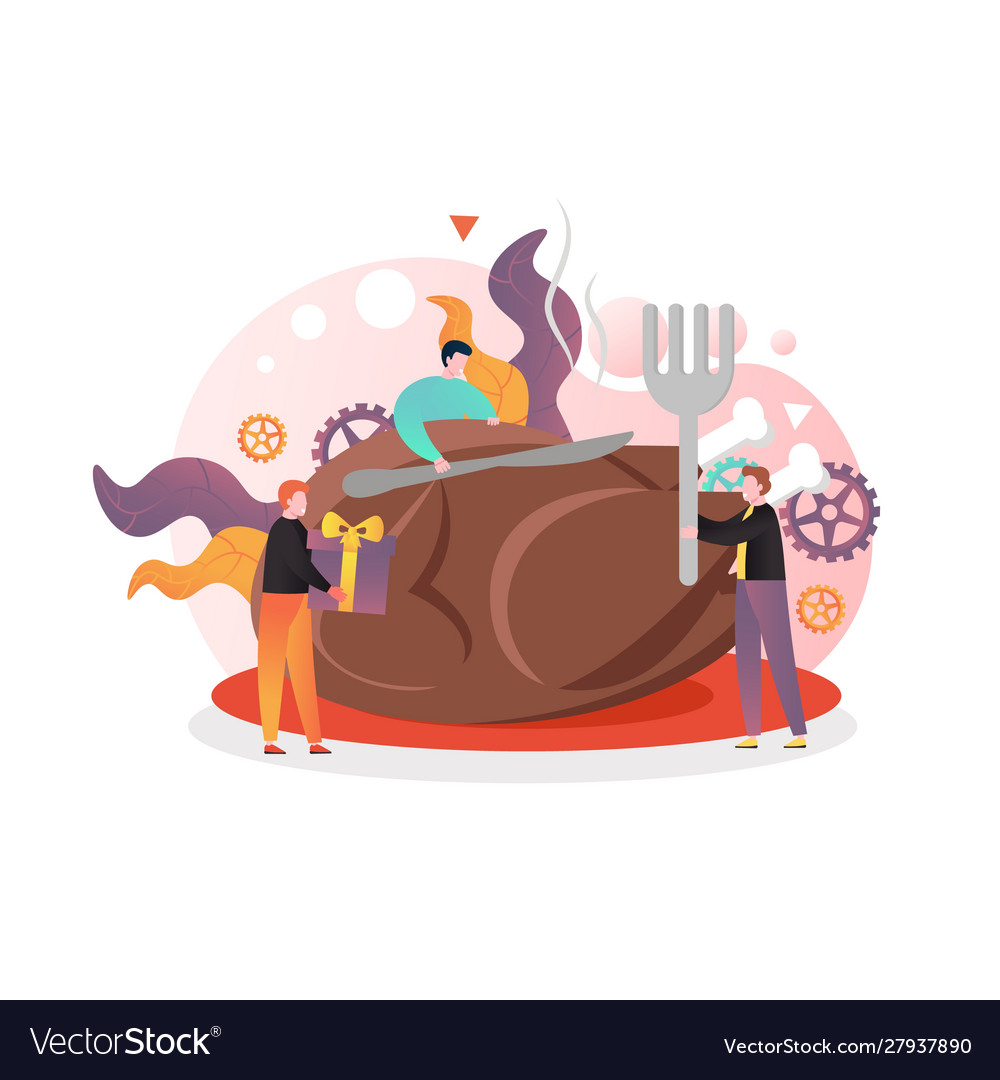 Happy thanksgiving day concept for web