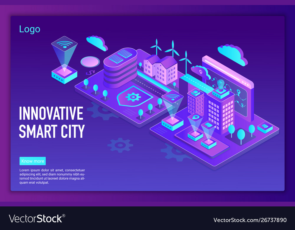Innovative smart city landing page template