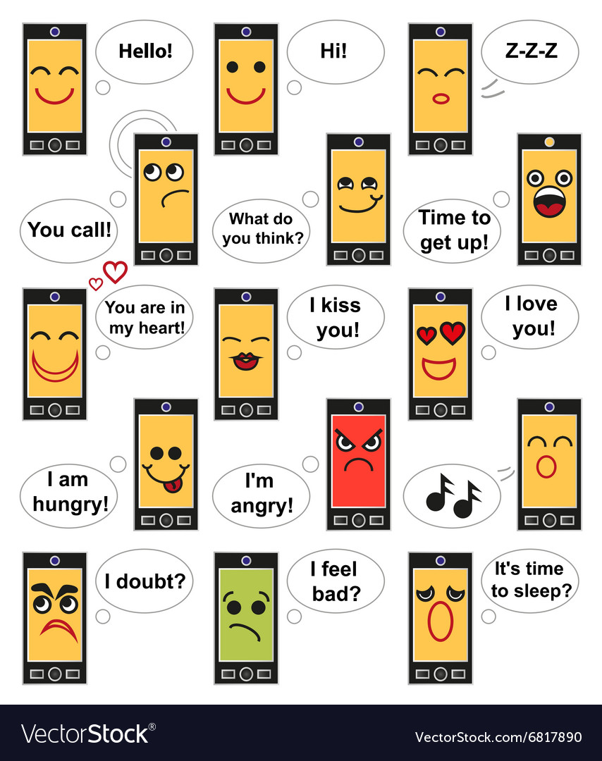 Phone face emotions