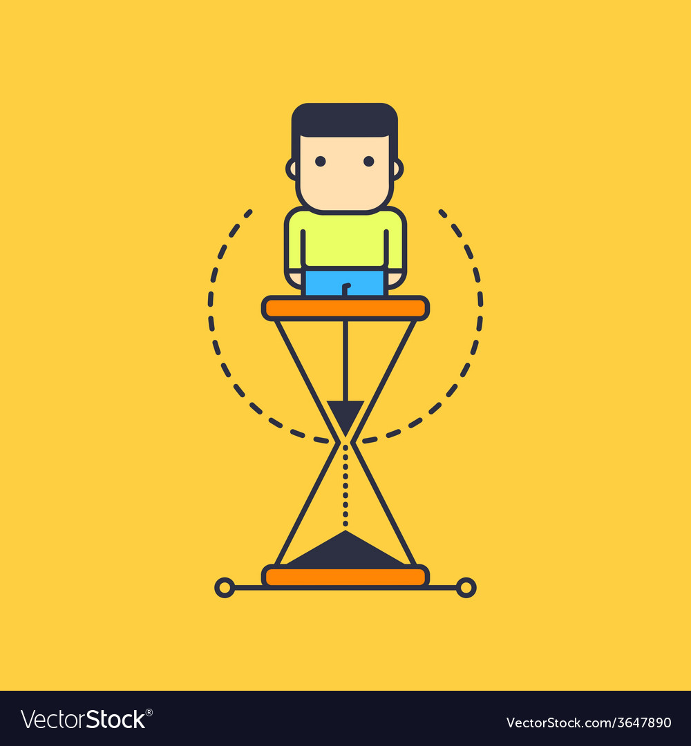 Time spent as a hourglass vector image
