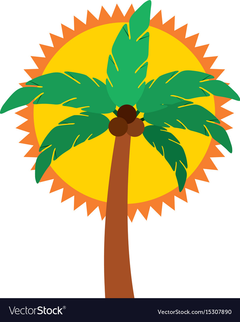 Tree palm summer icon