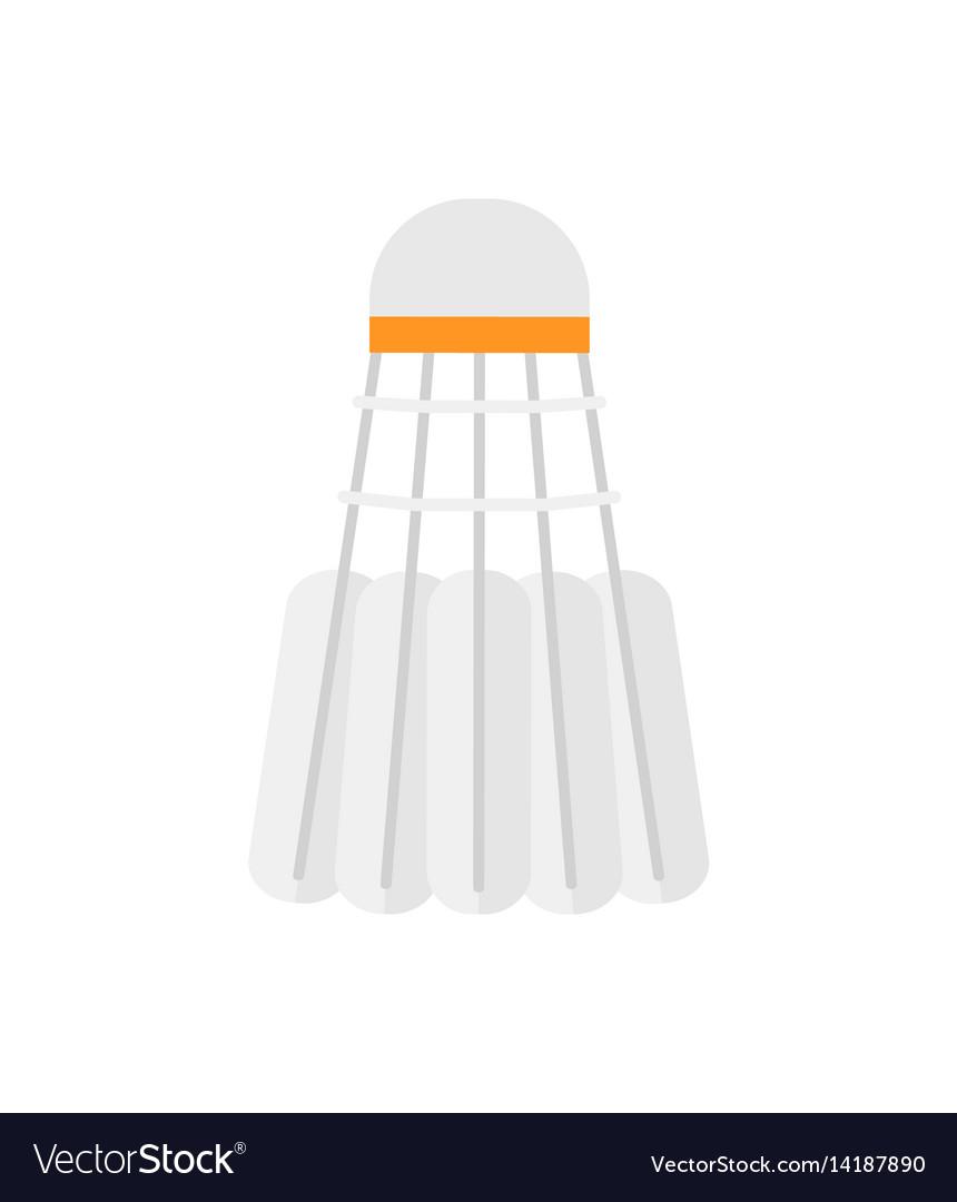 White badminton shuttlecock isolated vector image