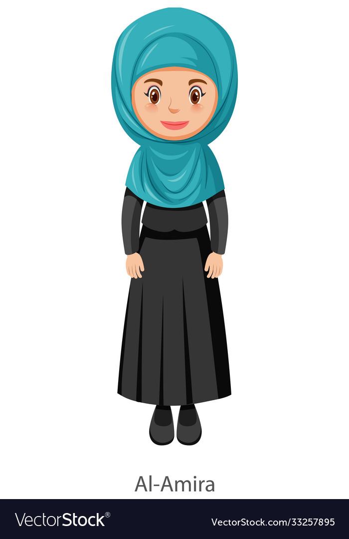 A woman wearing al-amira islamic traditional veil