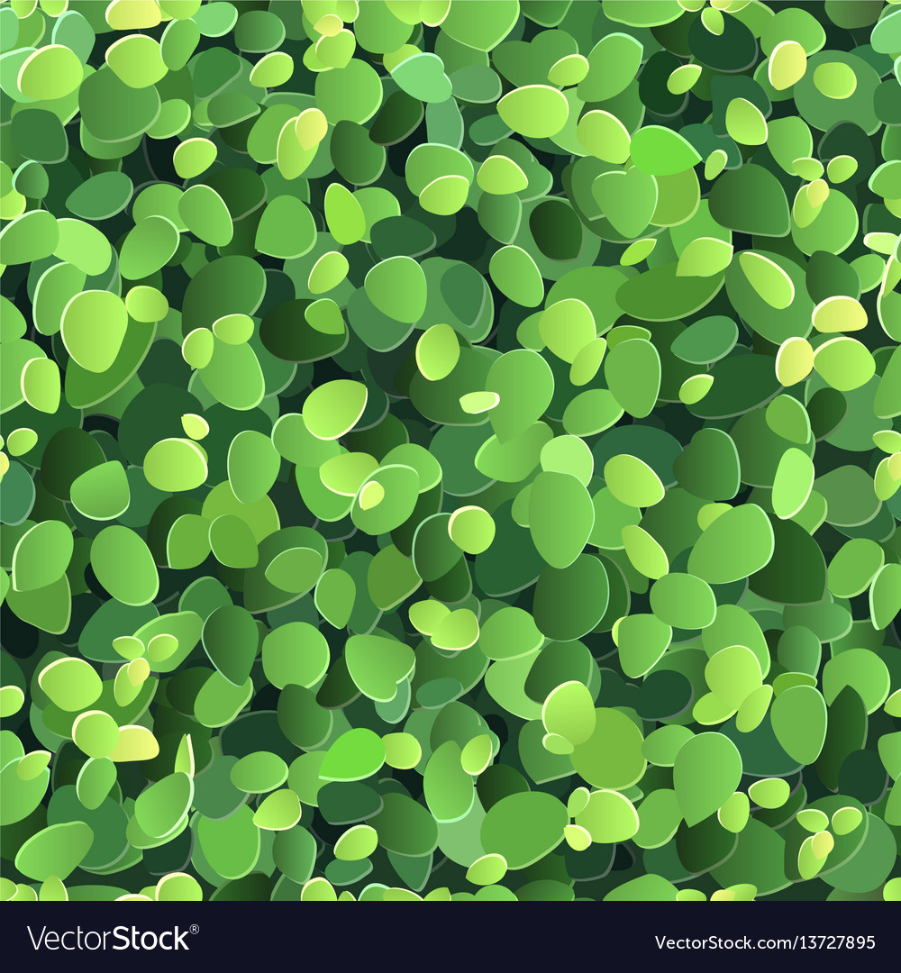 Background with stylized green leaves vector image