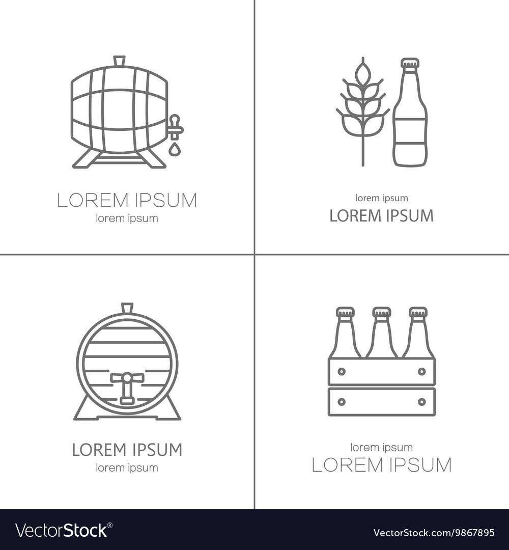 Beer logos design