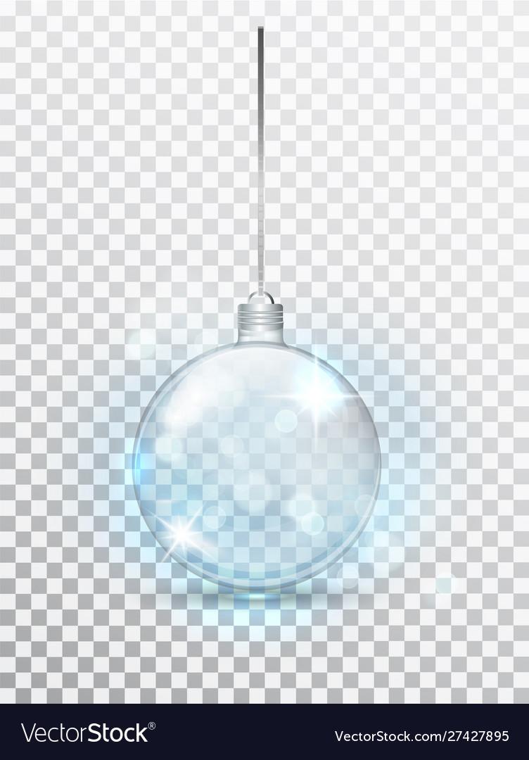 Blue transparent christmas ball xmas glass ball