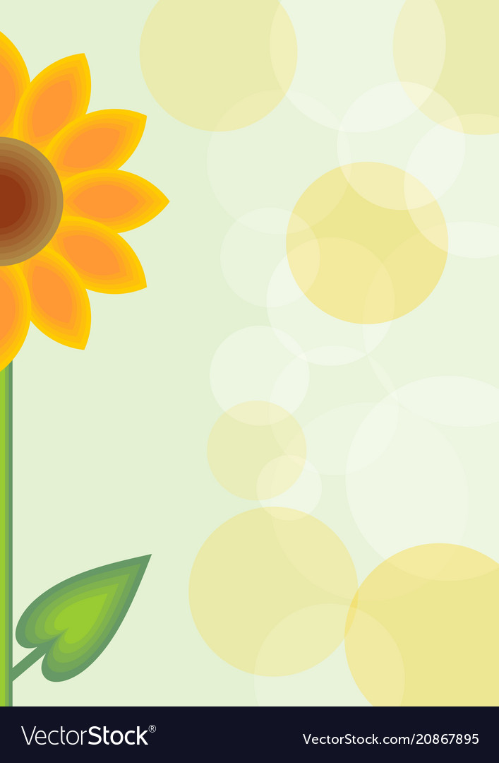 Cute spring background with orange flower and