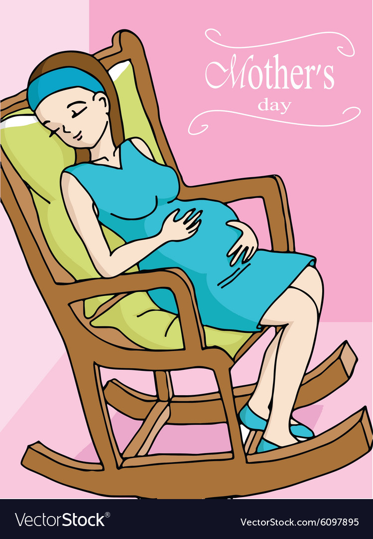 Tremendous Happy Pregnant Woman Relaxing On Rocker Chair Creativecarmelina Interior Chair Design Creativecarmelinacom