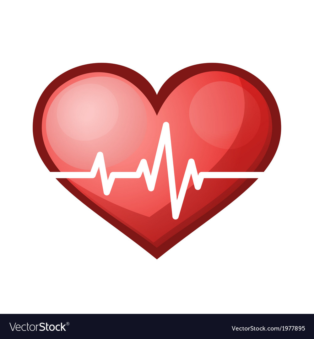Heart beat rate icon healthcare